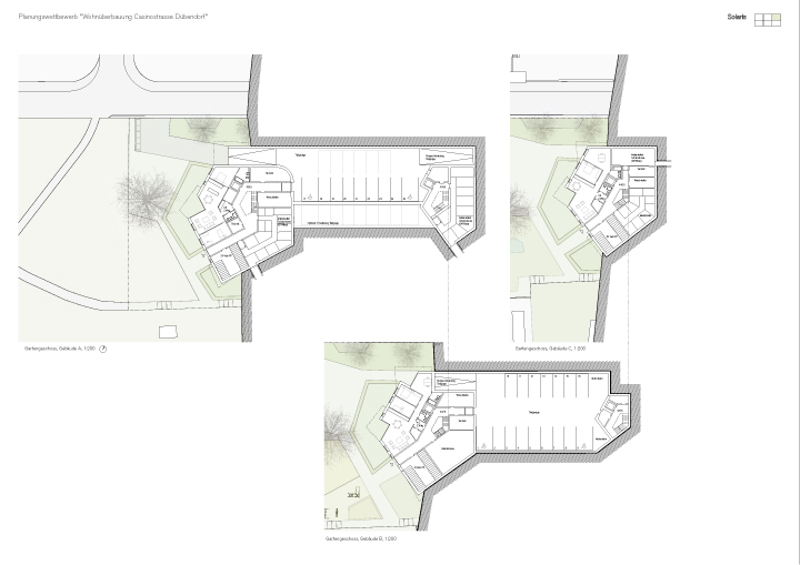 Lower ground floor and basement plans