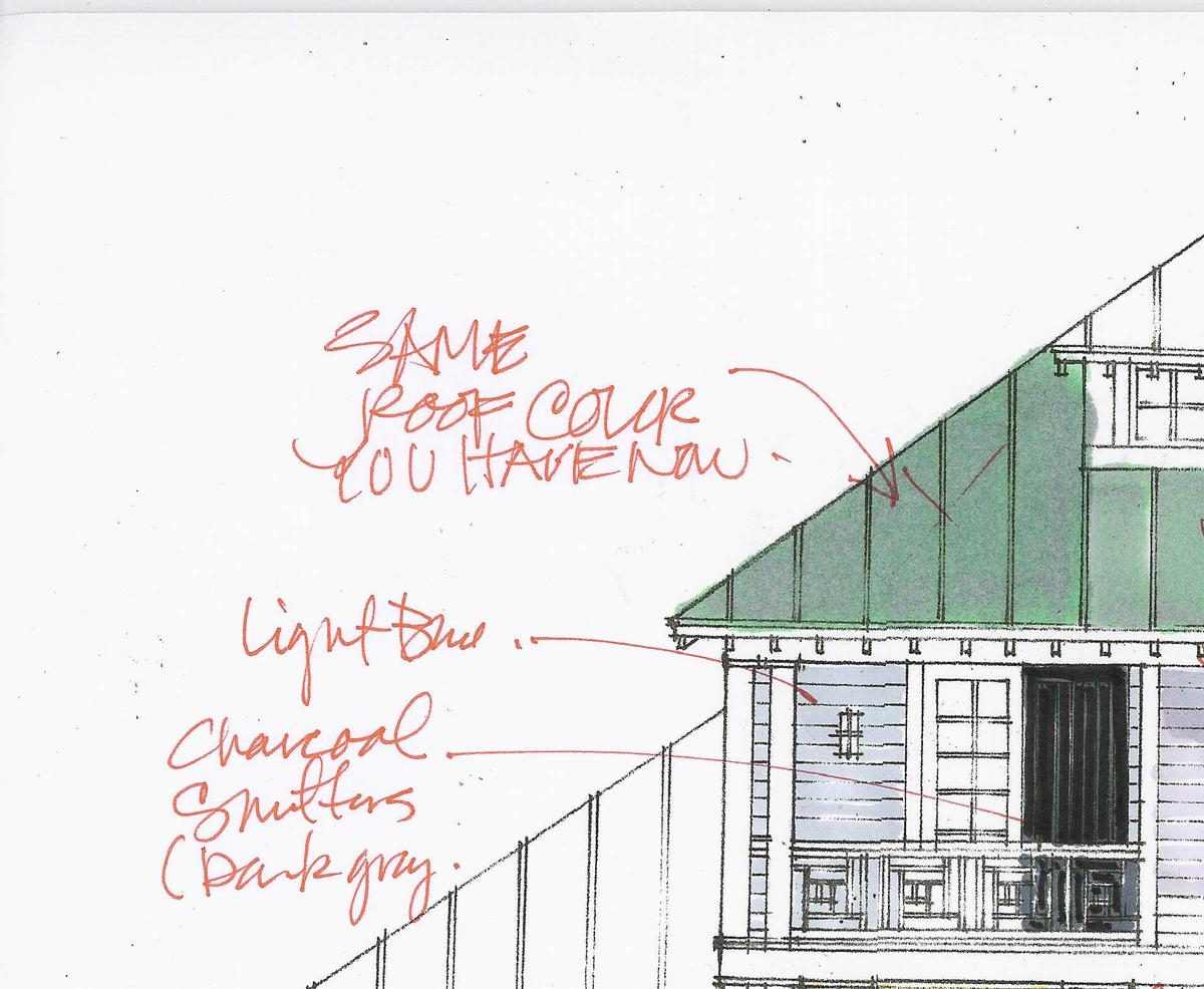 Design detailing-Red lines