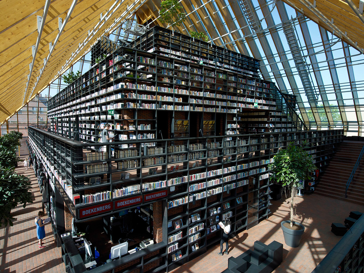 Book Mountain, Spijkenisse, The Netherlands by MVRDV (Photo: Jeroen Musch)