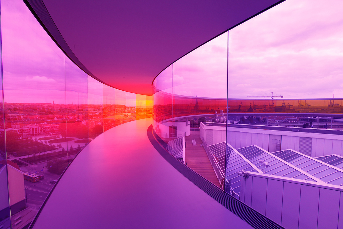 Olafur Eliasson: Your rainbow panorama, 2006-2011. ARoS Aarhus Kunstmuseum, Denmark. Image courtesy of MIT Council for the Arts.