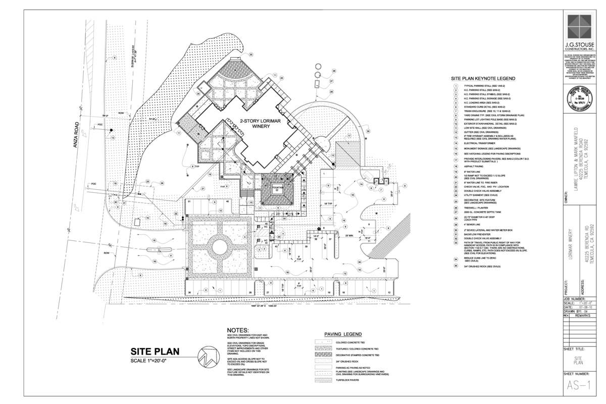 Lorimar winery gary mcdaniel aia leed ap archinect for Cad car plan