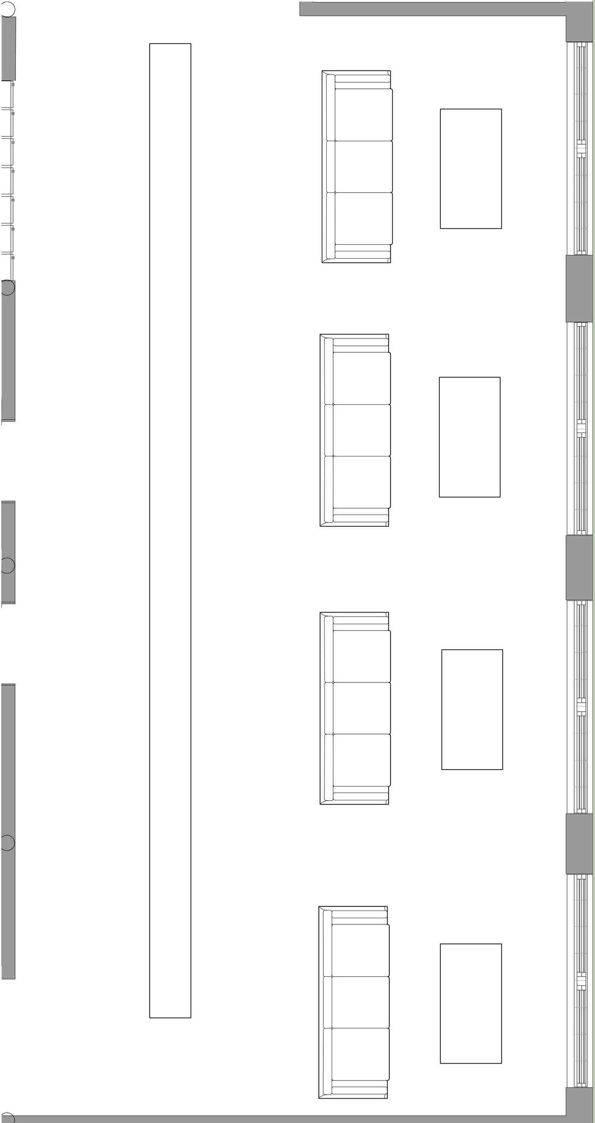 Enlarged Lounge floor plan