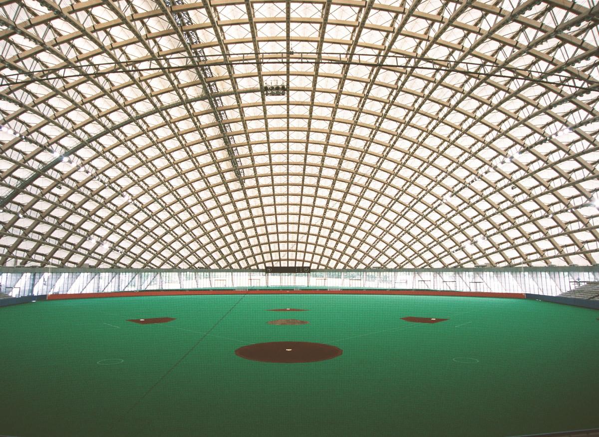 Dome in Odate (multipurpose dome), 1993—1997, Odate-shi, Akita, Japan Photo by Mikio Kamaya