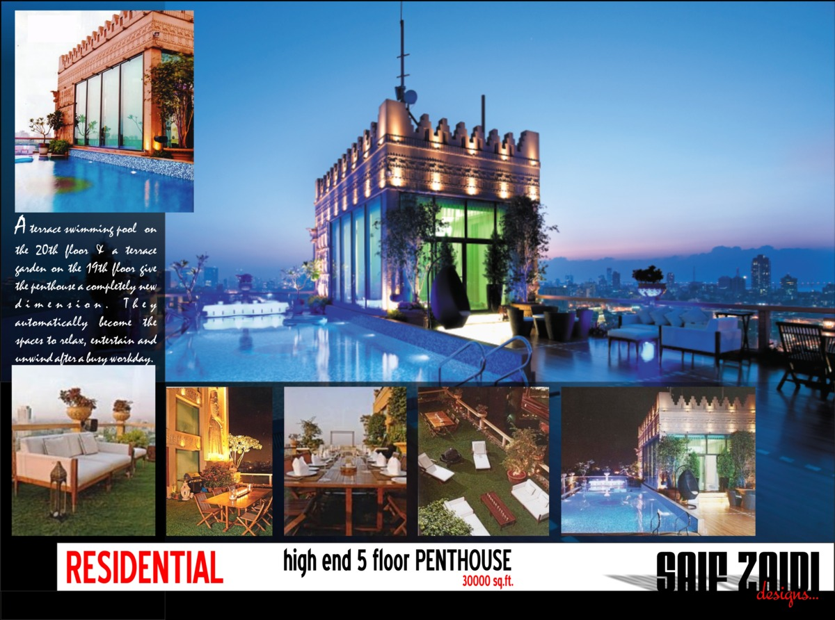 30 000 penthouse high end residential interiors for Pool designs under 30000