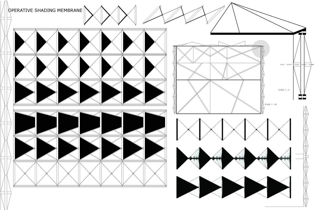 Operative membrane- dynamic facade
