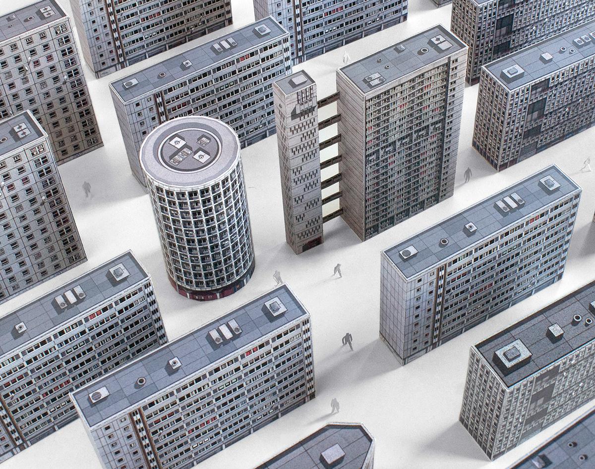 Brutal London Cutout Replicas Commemorate Iconic Brutalist Structures News