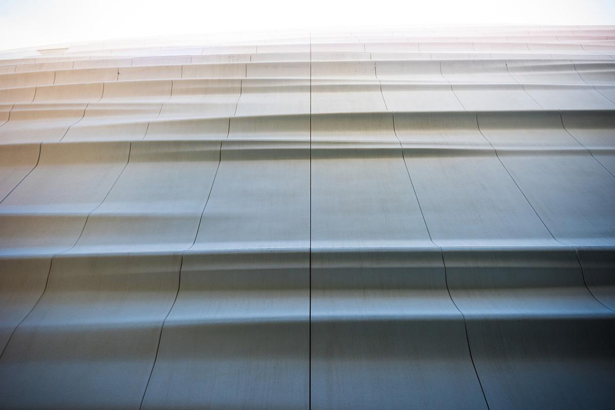 Facade of Snøhetta expansion; photo: Jon McNeal, © Snøhetta.