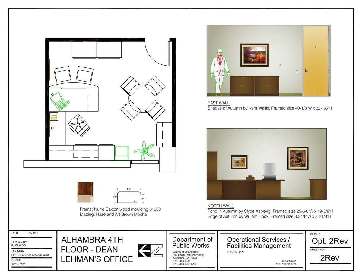 The Alhambra 4th Floor Office Artwork