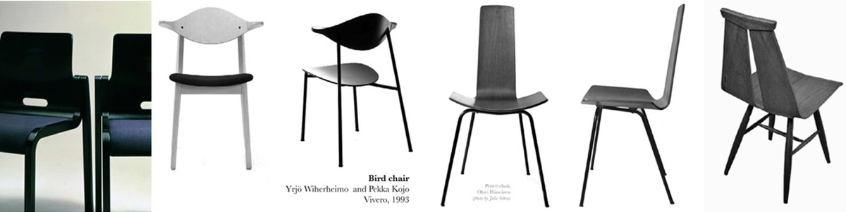 4 Finnish Designed Bent Plywood Chairs, Photo by Julie Scheu