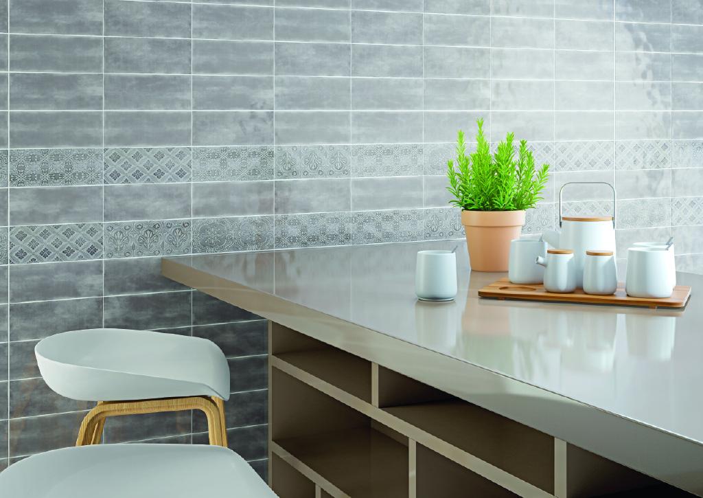 Maiolica 4x10 Ceramic Wall Tile Handmade Look Roca