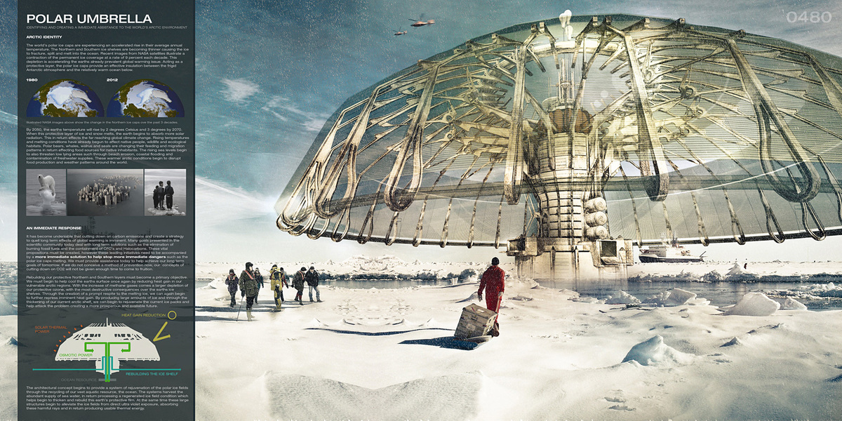 First Place: Polar Umbrella, Derek Pirozzi (United States)