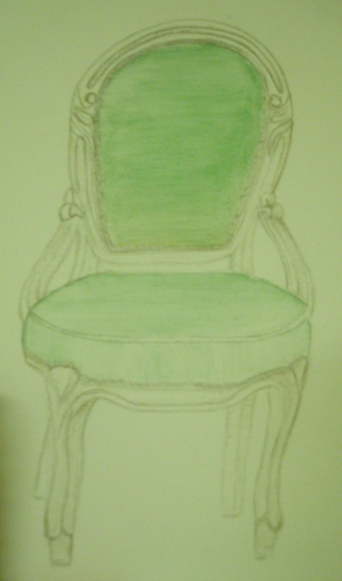 Antique chair drawing - Antique Chair Drawing