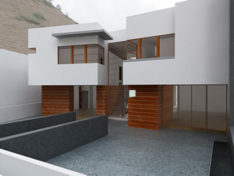 Casa atlamaya arco arquitectura contempor nea archinect for Arquitectura contemporanea casas