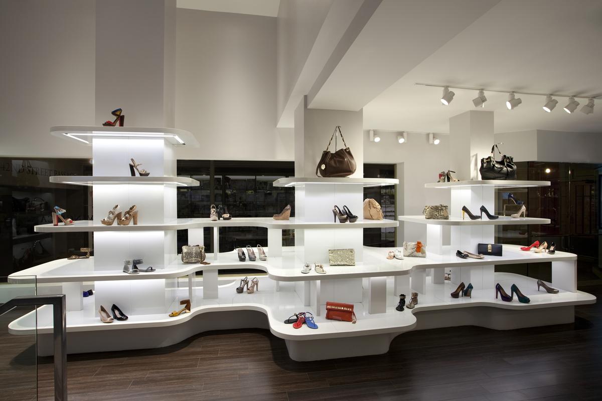 Vince Camuto shoe store design Sergio Mannino