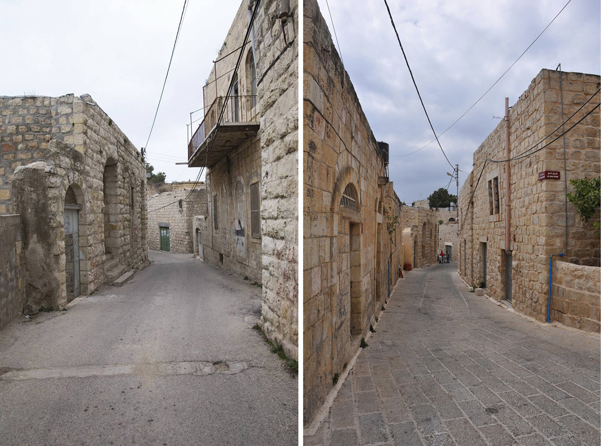 Revitalization of Birzeit Historic Center: Preventive conservation in a street. Photo: AKAA / RIWAQ