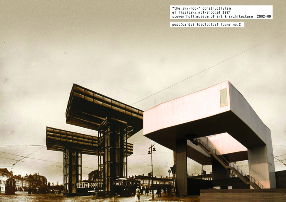 Post(card) Ideological Icon #2, Constructivism, El Lissitzky 1924_ Steven Holl, 2002-09