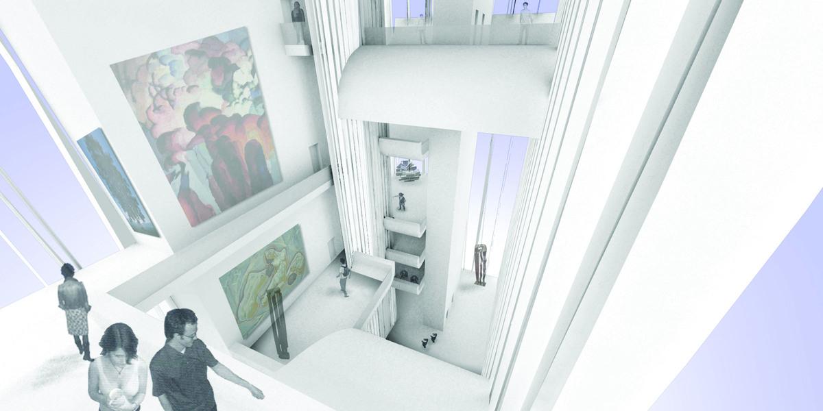 Interior Render_Lightwell museum