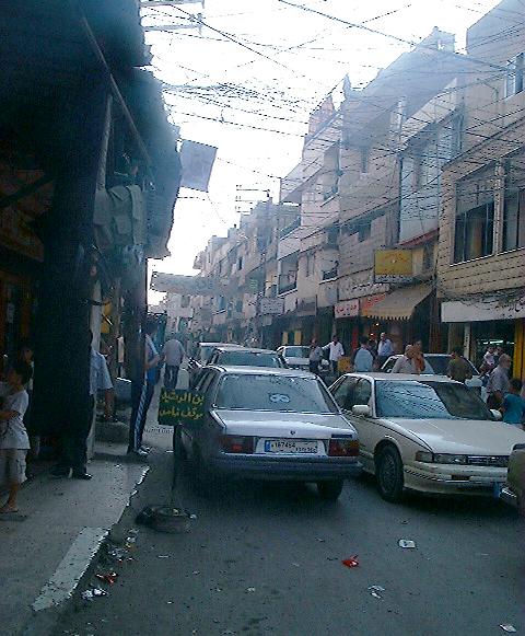 Nahr al-Bared Palestinian refugee community in Northern Lebanon - Credit: FunkMonk via Wikipedia