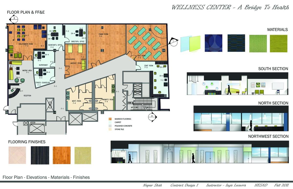 Floor Plan(FF&E)- Elevations- Materials