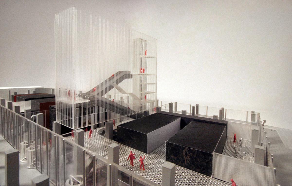 Model - Atrium. © OMA