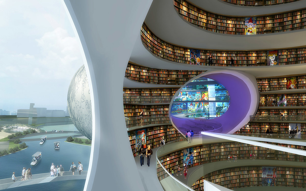 Visualization, library © MVRDV