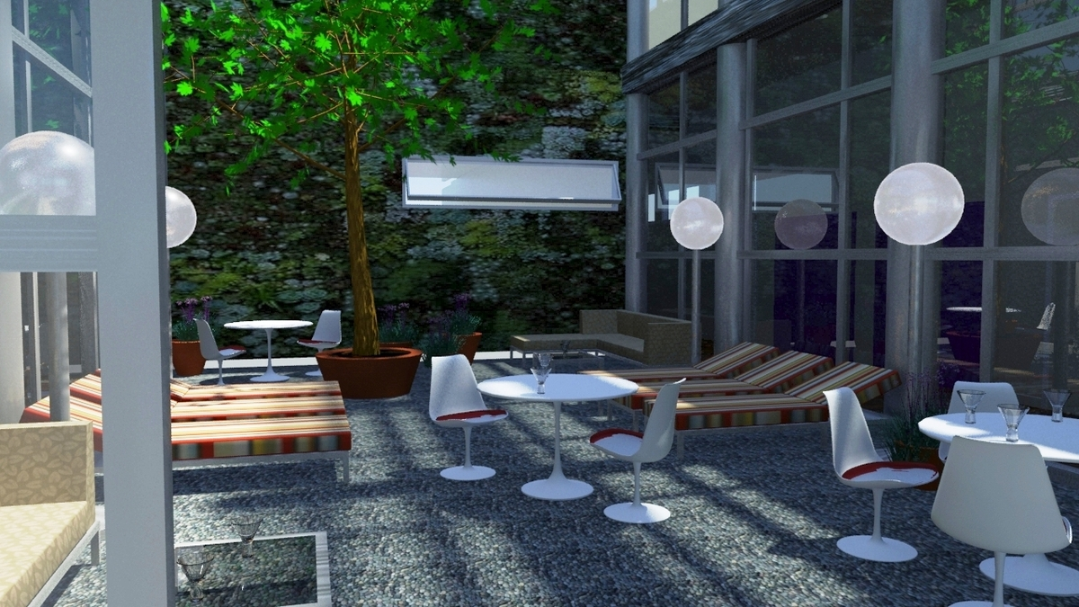 Woodlands at the Witherill Eco--village (Central Courtyard)
