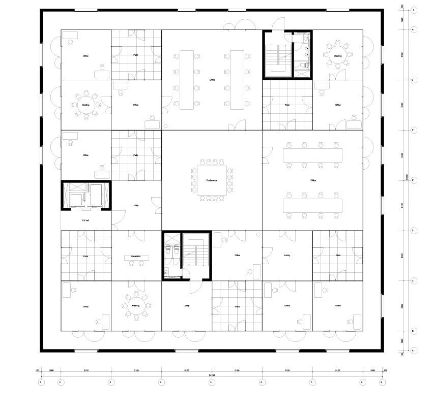 The Zollverein School of Management & Design by SANAA plan via toasteroven