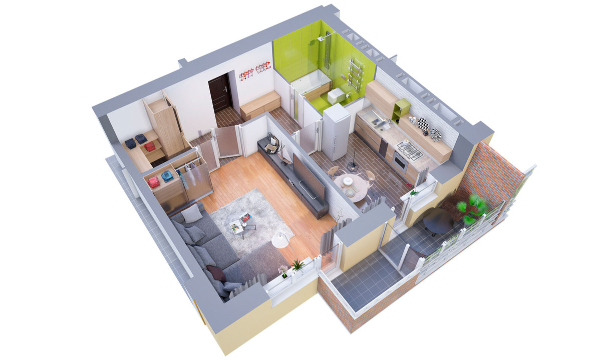 3d Floor Plans Visualization 3dvis Design Archinect: 3d floor plan online