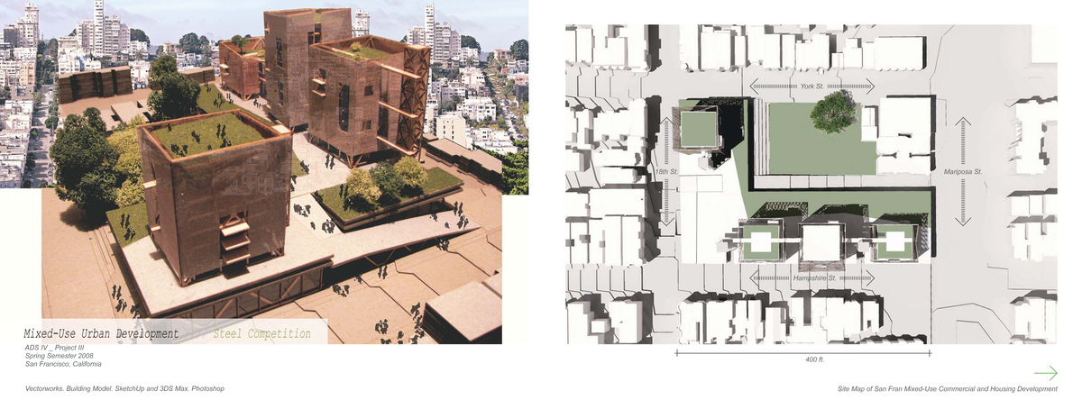 San Fran Mixed-Use Arial View and Site Plan