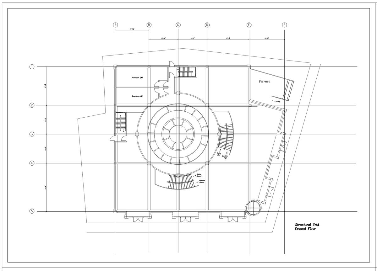 Structural Grid Ground Floor