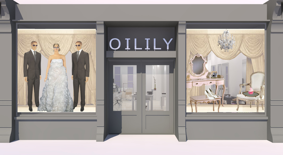 Bridal shop layout bing images for Small shop exterior design