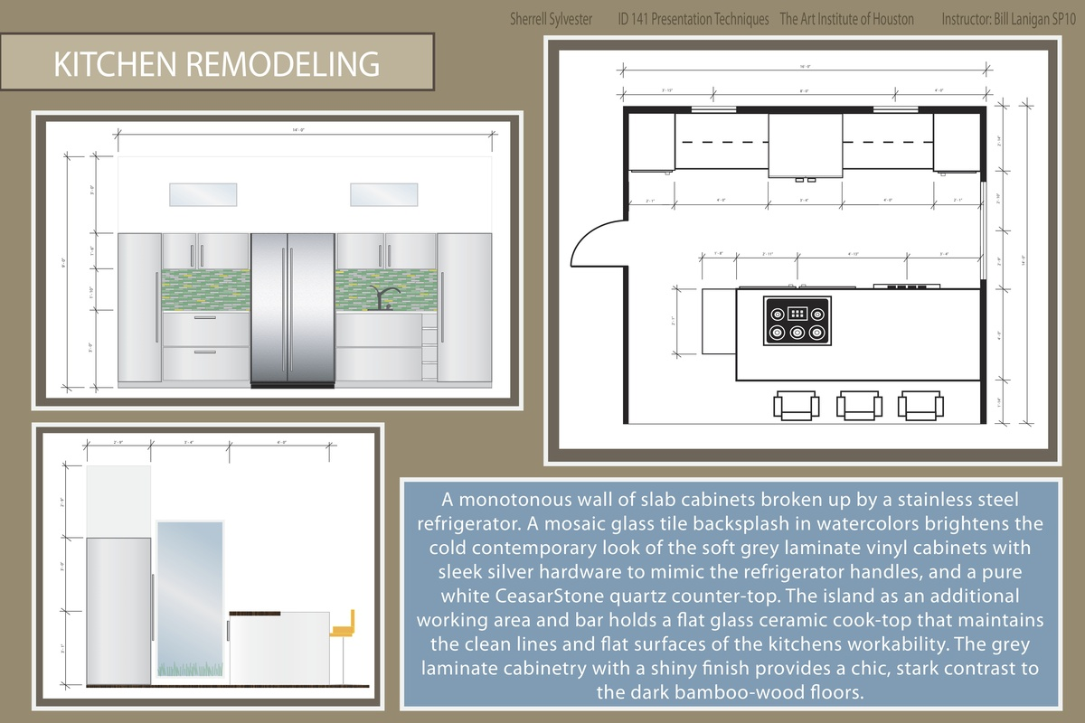 KITCHEN REMODEL - Presentation Techniques created in Adobe Illustrator