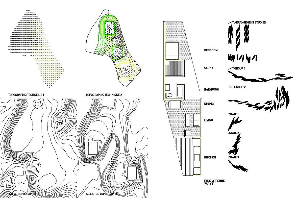 Topography + Unit Plans - final topo adjustment + basic unit type