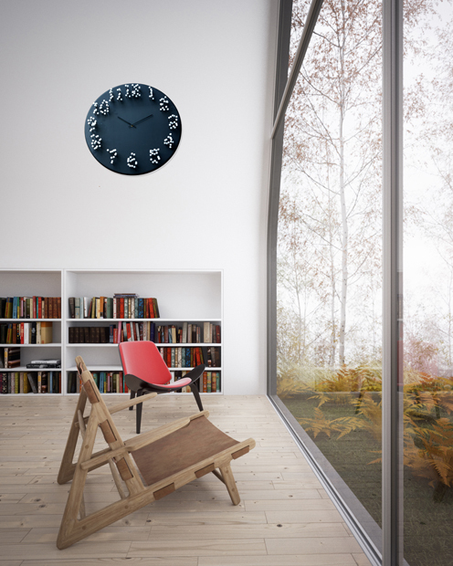 MOCAP bamboo wall clock by J.P.Meulendijks (is time an illusion?)