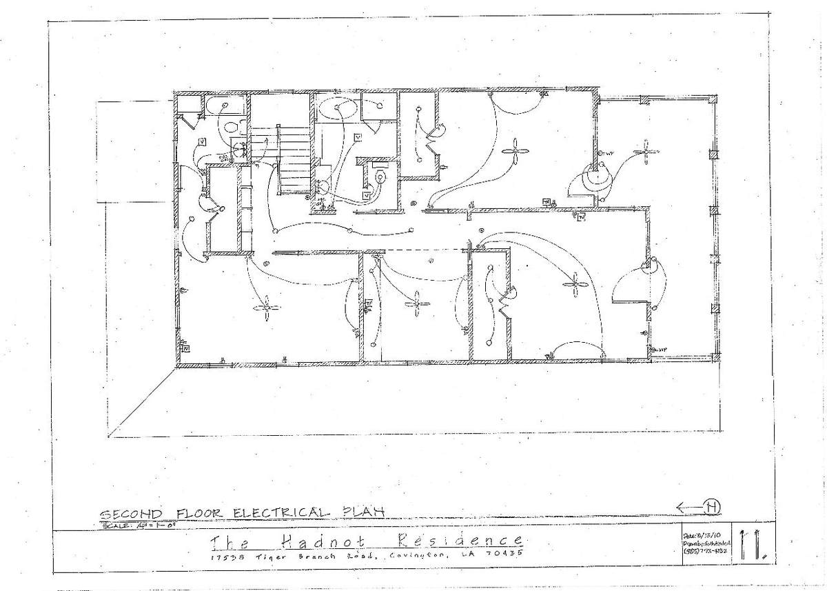 Second Floor Electrical Plan