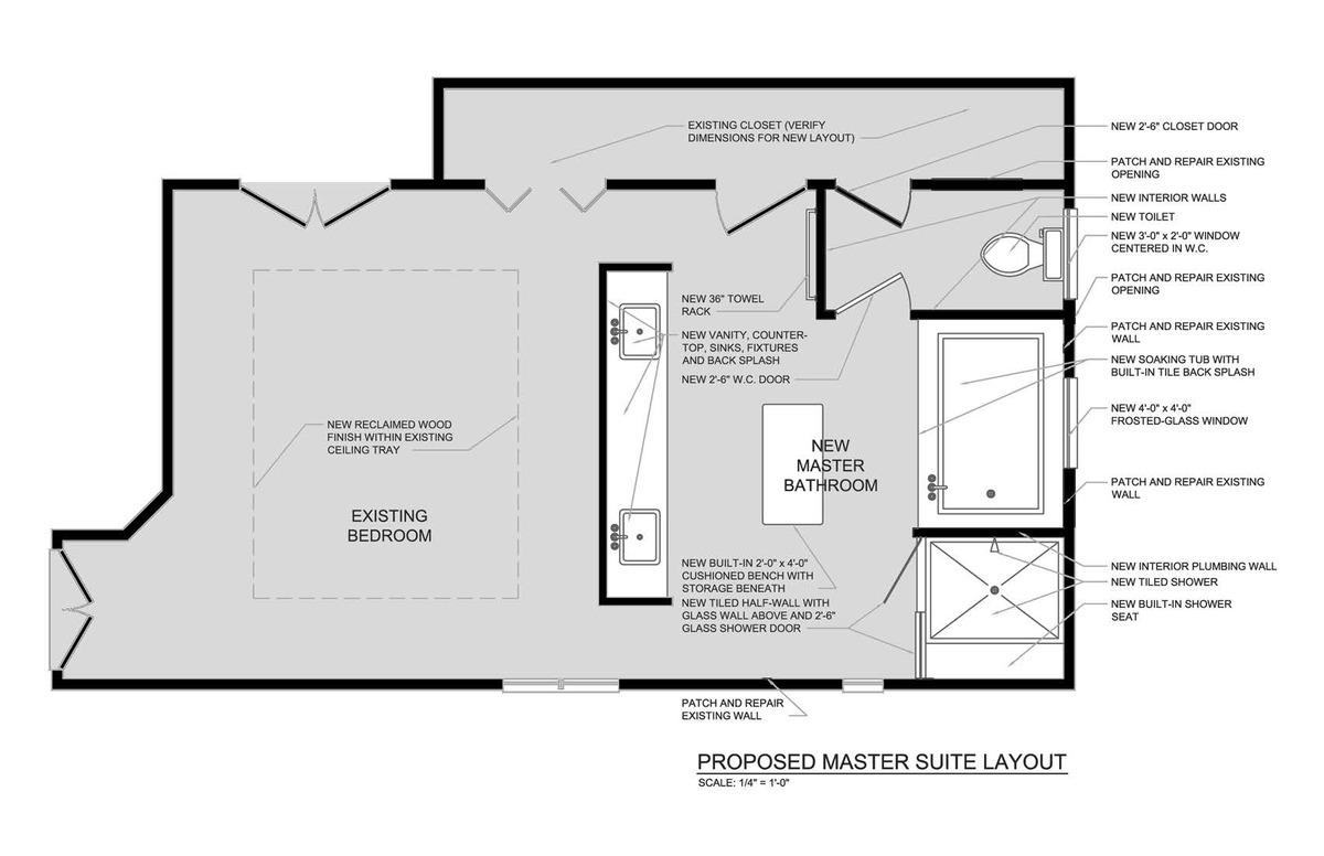 Master Bathroom Renovation - Floor Plan