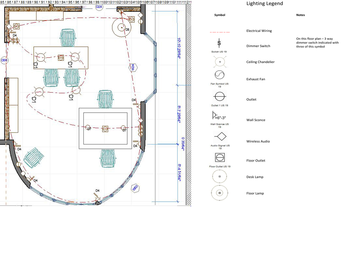 Cad lighting plan michelle m colina archinect for Billiard light plans