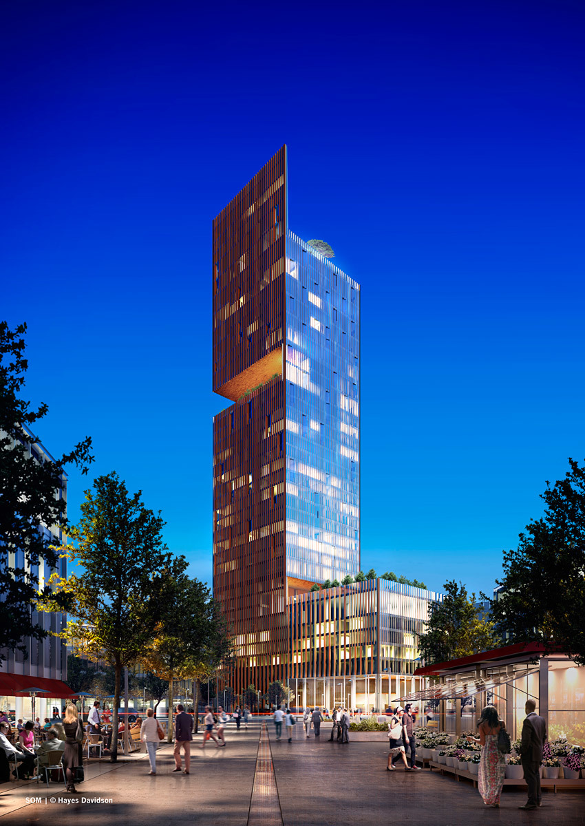 Best Future Building 2012 (joint winner): Skidmore Owings + Merrill with Manhattan Loft Gardens, London, UK