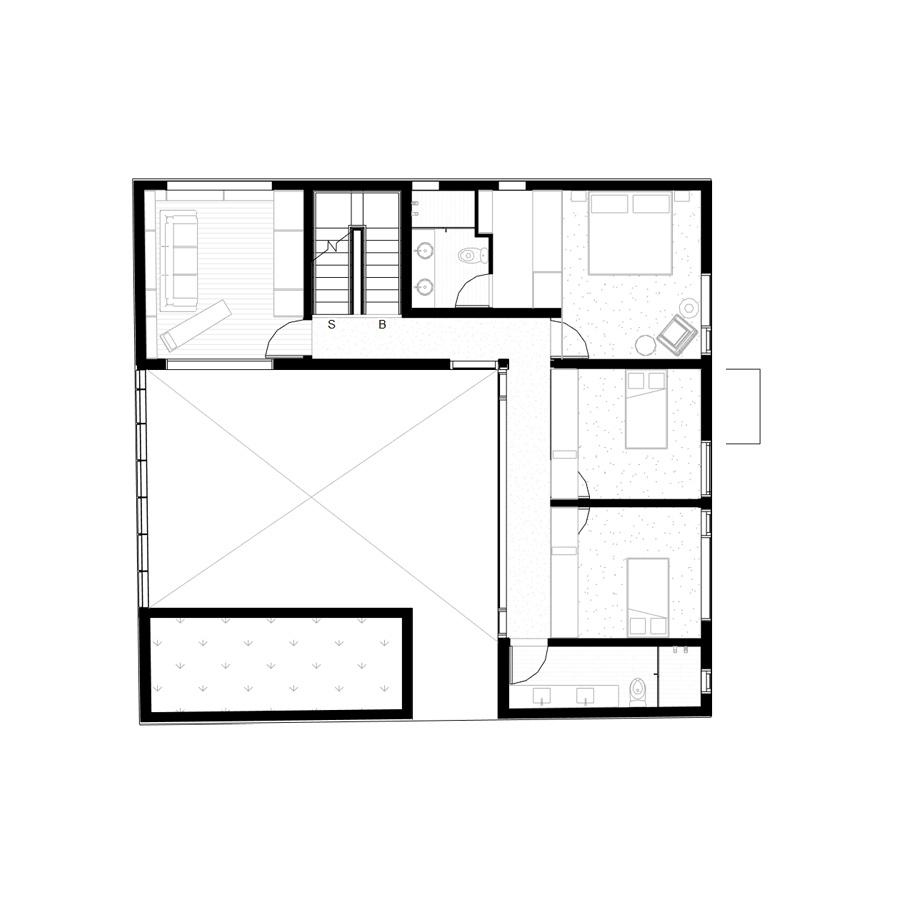 Living room level plan. PAUL CREMOUX studio
