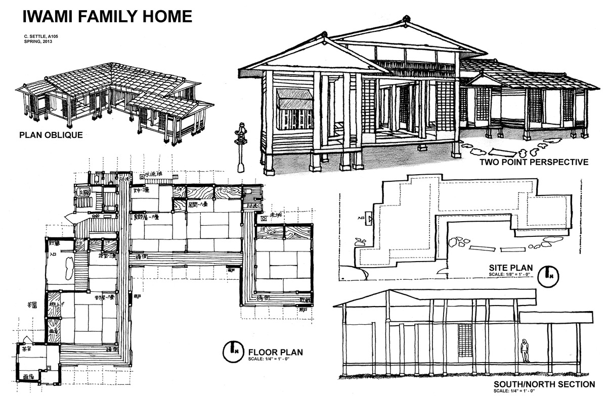 House plans and design modern japanese house floor plans for Traditional house plans