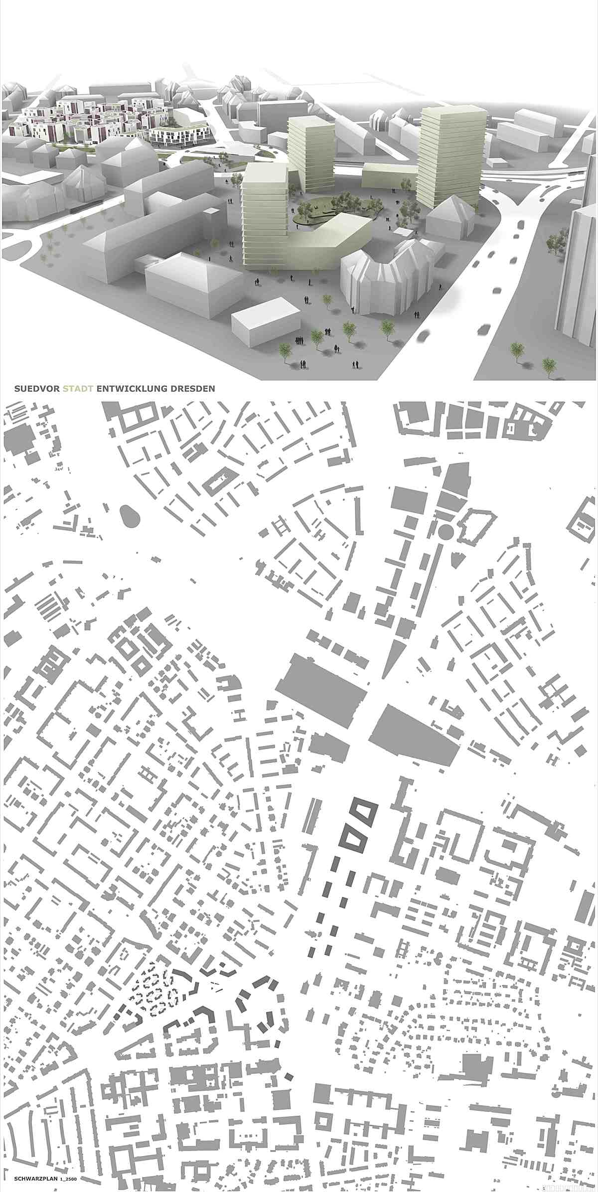 p1_urban design plan and the science gate of the city (shown in centre)