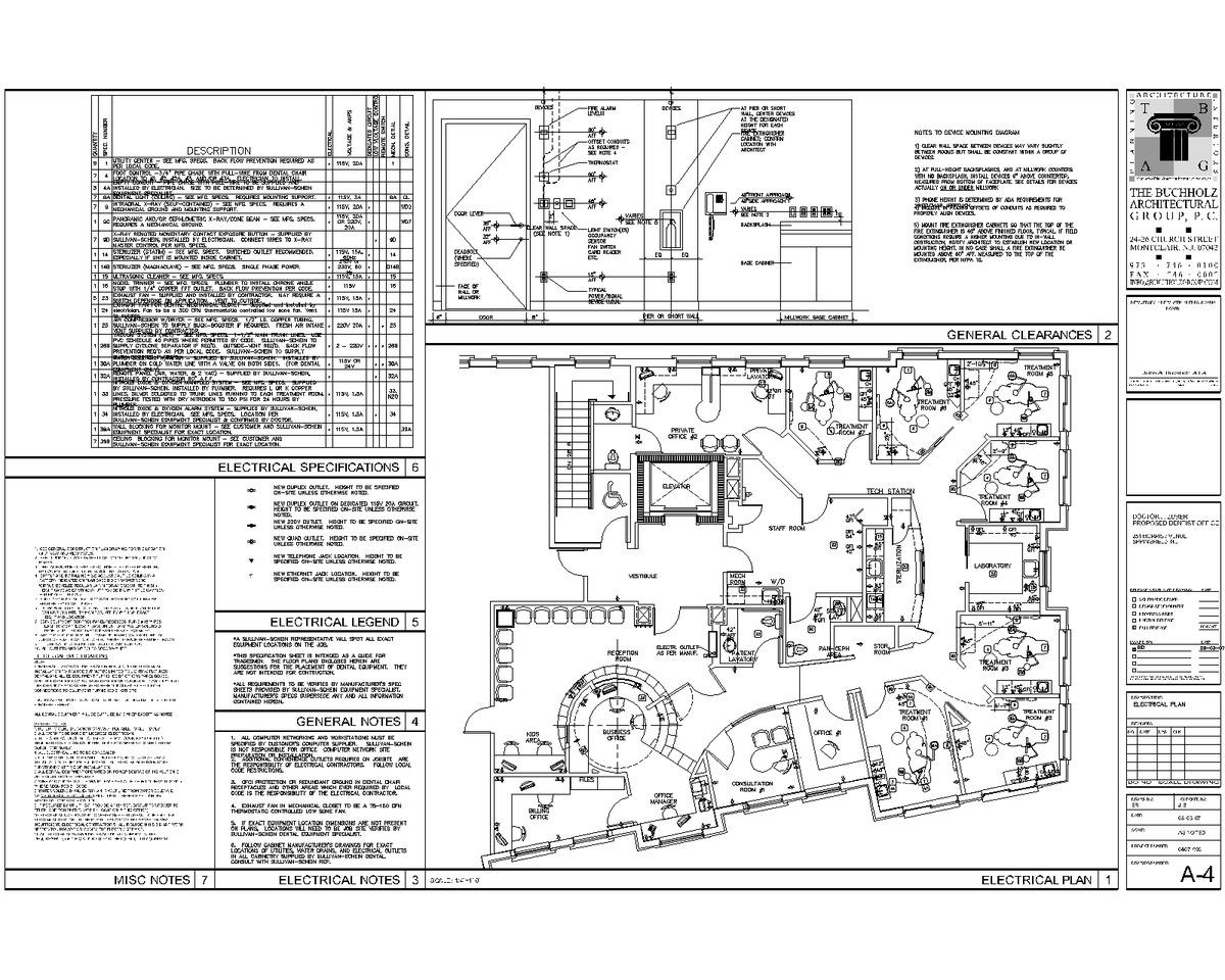 Furniture- electrical plan