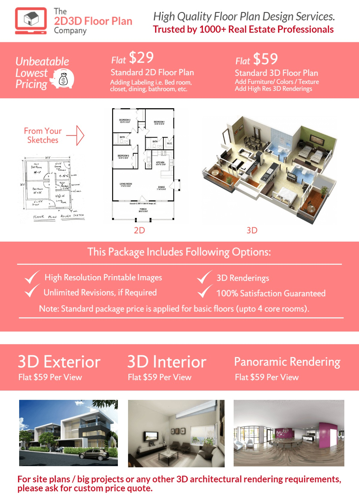 The 2d3d Floor Plan Company Offers Creative 2d And 3d