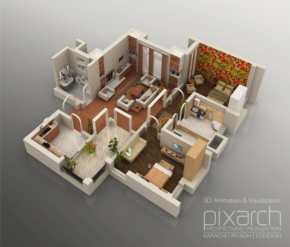 3d Floor Plans Pixarch Net Archinect
