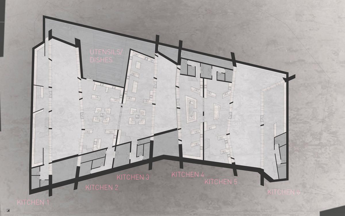 :Sub-Grade Floor Plan: