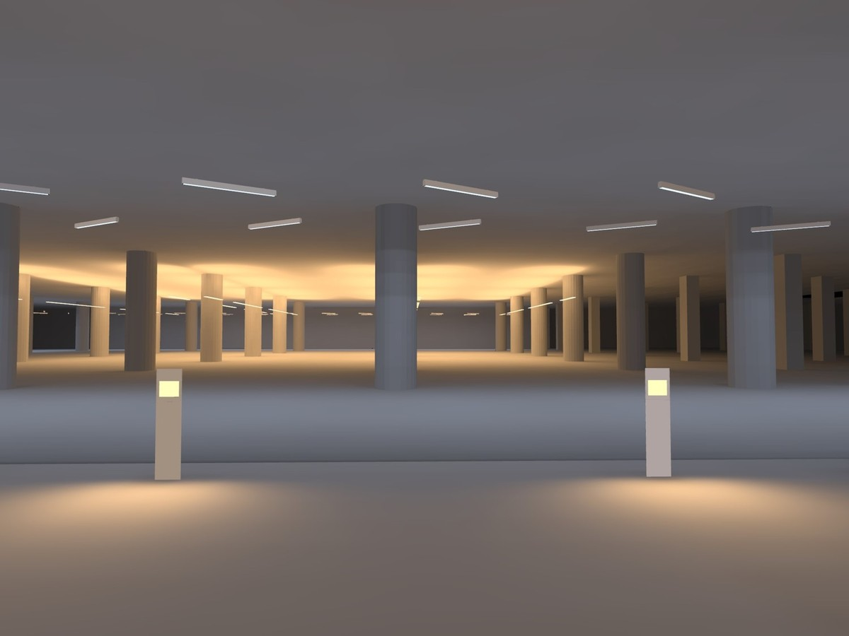 lighting design for leed campus basement parking lighting design - Basement Lighting Design