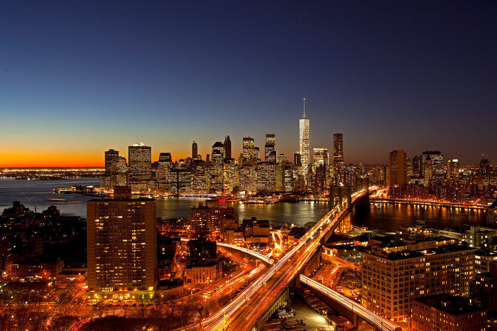 Night view from Brooklyn
