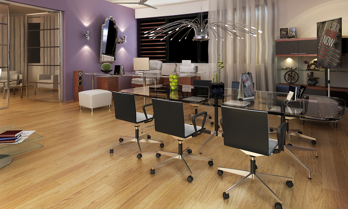 Office interior design in 3d dennis de priester archinect Office design 3d
