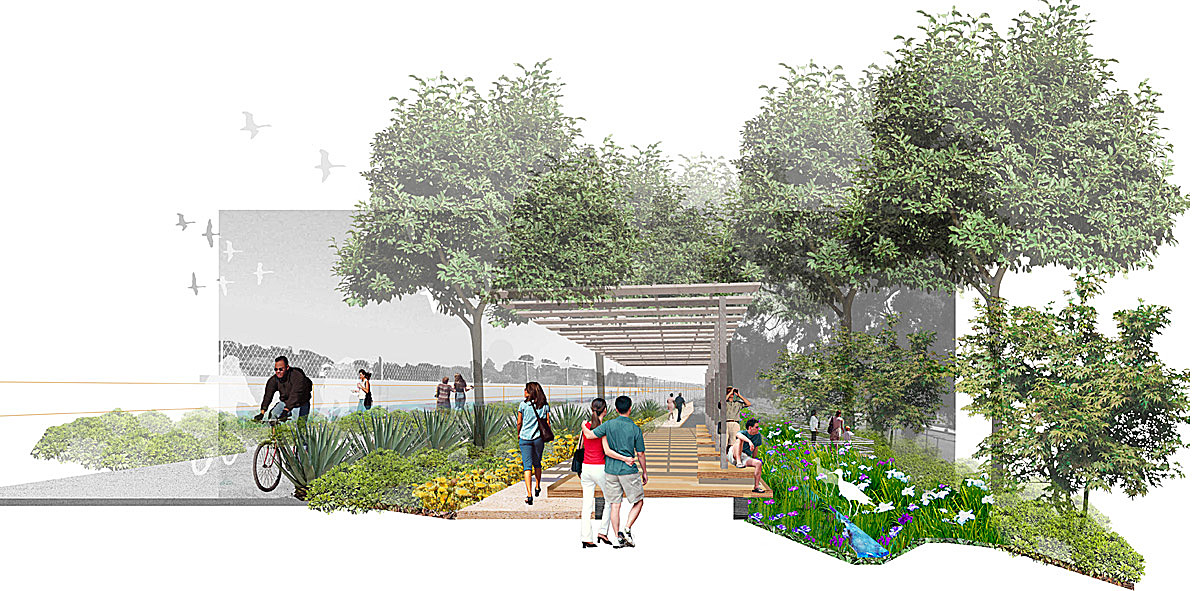 Milton Street Park, Marina del Rey, California; Graphics Courtesy of SWA