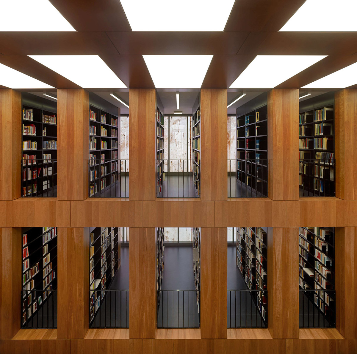 View through the library of the facade (Photo: Stefan Müller)
